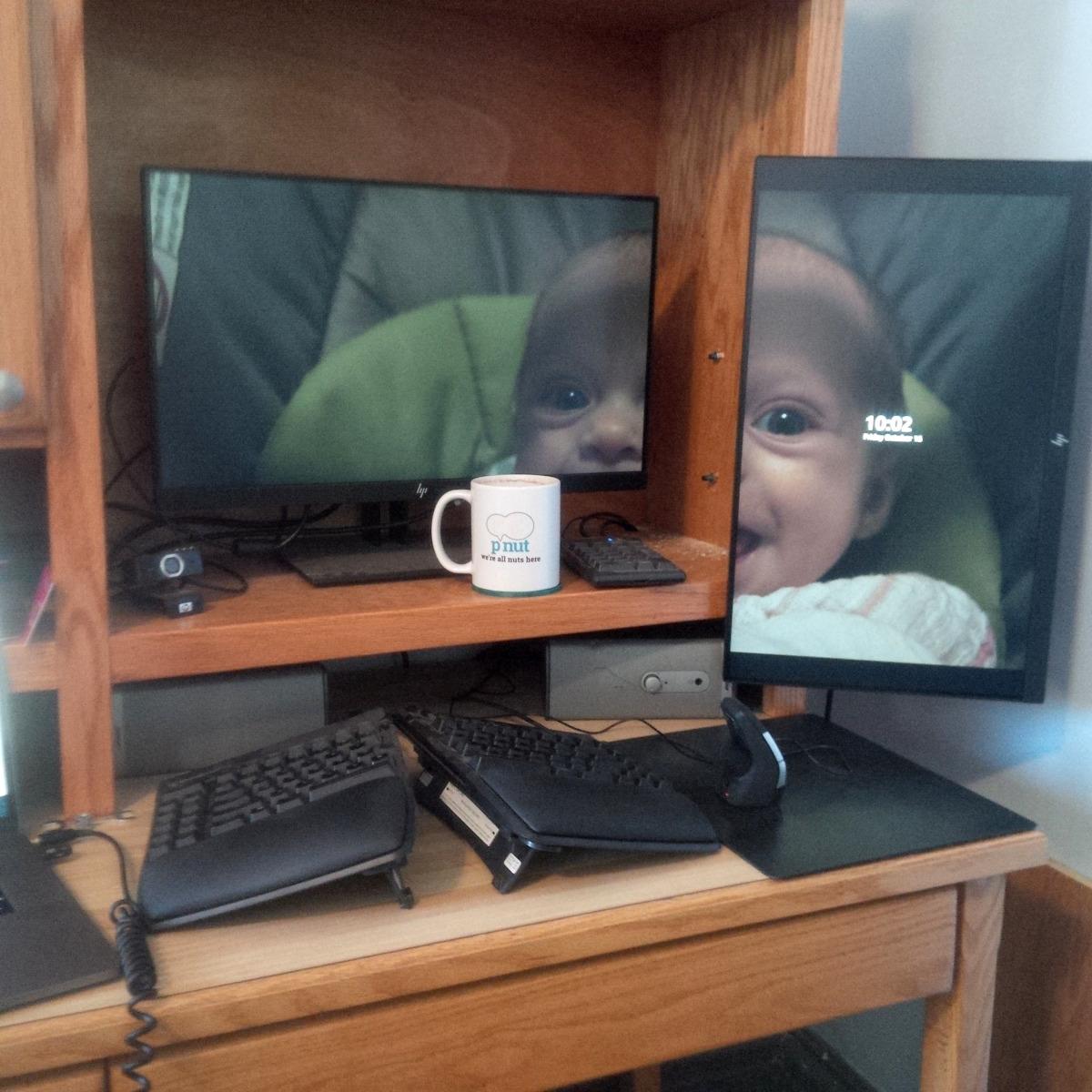 My current deskface
